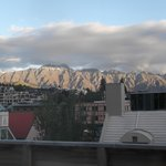 amazing view from my room towards the Remarkables