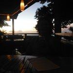 dusk at castara restaurant