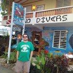 Outside the dive shop