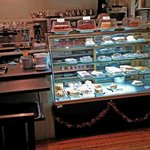 Treats counter and cakes display