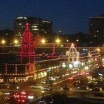 View from suite of holiday lights in Country Club Plaza
