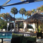 View by the pool.  Cabanas are first come, no fee.