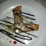 crepe di castagne con cioccolato bianco e ricotta