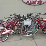Complimentary bikes to use to bike around town