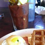 Sunday brunch buffet. Their bloody Mary's are delicious!