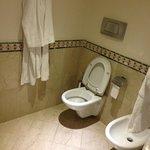 Toilet with bidet.