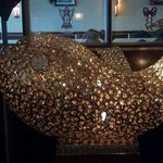 Really cool gold & crystal Fish sculpture!