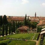 Панорама города, вид из сада