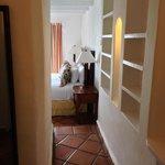 Hallway from bathroom to bedroom