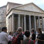 Sarah at the Pantheon