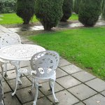 Wrought iron Patio Set for Room #55 in Courtyard Walled Garden