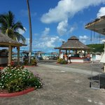 Beach bar at Halcyon Cove
