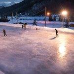 Skating rink right behind the hostel