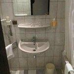 niet veel ruimte in de badkamer