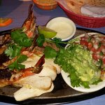 Giant Shrimp Brochette with Beef & Chicken Fajitas