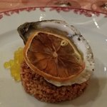 belon oyster with lemon caviar