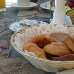 Basket of Pastries with Fruit and Coffee US$5
