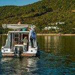 Houseboat rear view