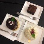 baby black, fudge cake & white choco cake