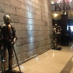 The guards at the entrance