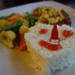 Tuna Steak mit Reis und Gemüse