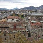 Вид на Женеву и горы