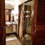 Deluxe Suite Bathroom!  Fancy!