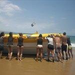 Wel zelf de boot in het water duwen voordat je kunt gaan duiken of snorkelen