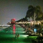 A brief night view of infinity pool