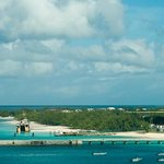 The view of Grand Turk from our balcony, on board the Carnival Conquest.