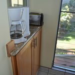 coffee maker and toaster in the kitchen