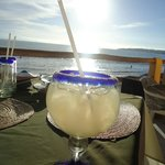Margarita and a view