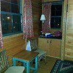 livingroom storage next to murphy bed