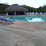 Pool area at the Blue Hole