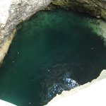 view looking down into the Blue Hole