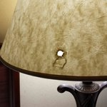 Hole in lampshade