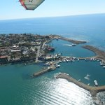 View of harbour from a microlight