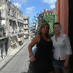 Ivette and me at the veranda out in the street