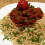 Spaghetti Bolognese-a welcome rest from the seeming endless stream of tajines we've eaten. I und