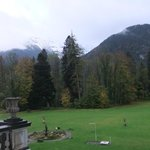 view of Alps mountain from room window