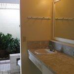 """unique """"garden shower"""" bathroom"""