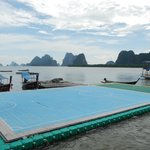 Floating soccer pitch @ Panyee Village