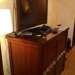 TV, minibar and storage