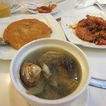 蛤スープ 大根入りの玉子焼き