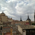 View of Toledo skyline from rooftop terrace