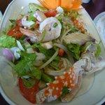 Seafood glass noodle salad - good!