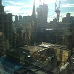 Through the glass window - City View Room Grand Hyatt Melbourne