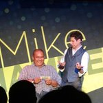 Hey, I'm on stage with Mike Hammer...