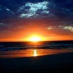 Brilliant sunset over the Rivilo Bay, Beachport
