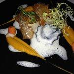 scallop and fois gras